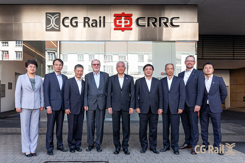 Besuch Wang Zigang bei der CG Rail im World Trade Center Dresden